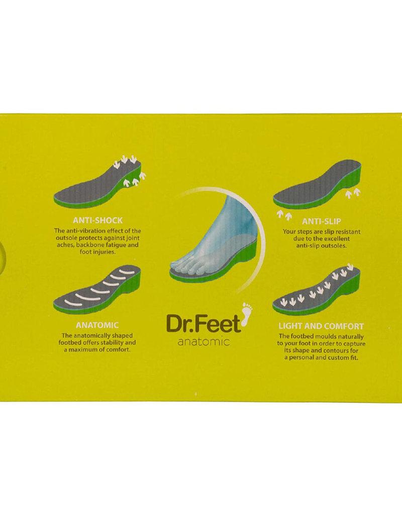 Dr. Feet 2480T Semelle ASH en cuir | Gris
