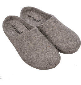 Dr. Feet 2480T ASH Leather Sole | Grey