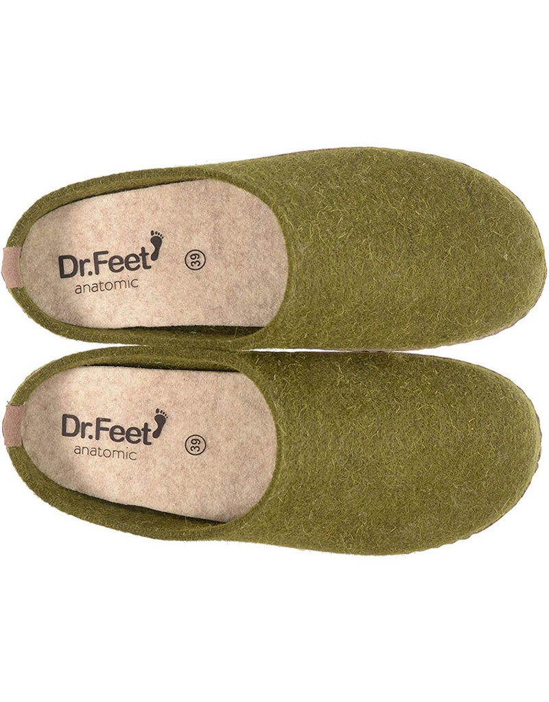 Dr. Feet 2480T Semelle EARTH en cuir | Vert