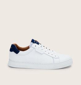 Schmoove Spark Clay Suède   Blanc/Bleu