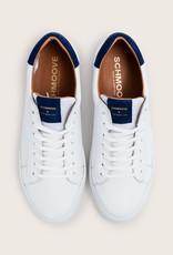 Schmoove Spark Clay Suède | Blanc/Bleu