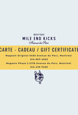 Carte Cadeau  | Valide Exclusivement en Magasin