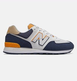 New Balance Men Sneakers New Balance 574 Indigo / Yellow