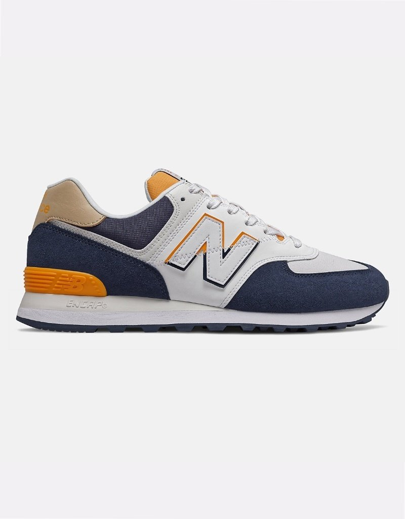 New Balance Chaussures homme New Balance 574 - ML574 SUR |Indigo Naturel / Jaune Chromatic