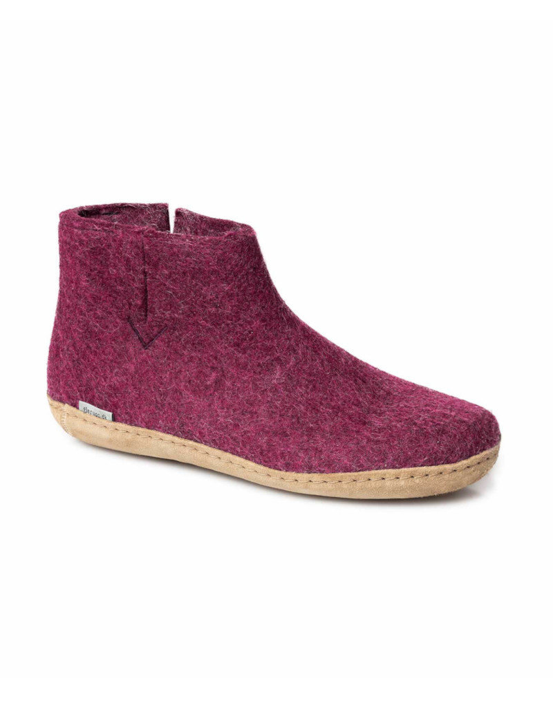 Glerups Glerups  Low Boot Leather Sole | Cranberry