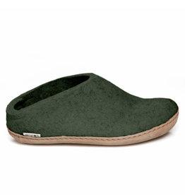 Glerups Glerups Open Heel Leather Sole | Forest