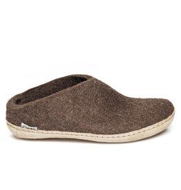 Glerups Glerups Open Heel Leather Sole | Brown