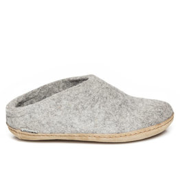 Glerups Glerups Open Heel Leather Sole | Grey
