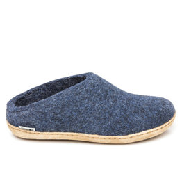 Glerups Glerups Open Heel Leather Sole | Denim