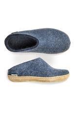Glerups Glerups Open Heel Leather Sole   Denim