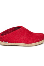 Glerups Glerups Open Heel Leather Sole | Red