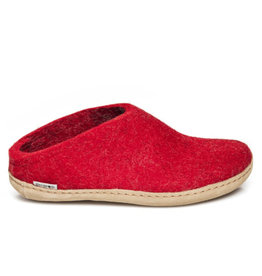 Glerups Glerups Open Heel Leather Sole | Red