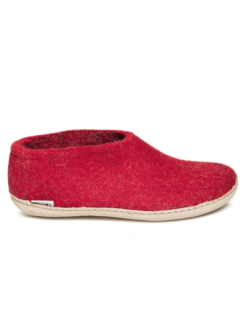 Glerups Glerups Chaussure Semelle Cuir   Rouge