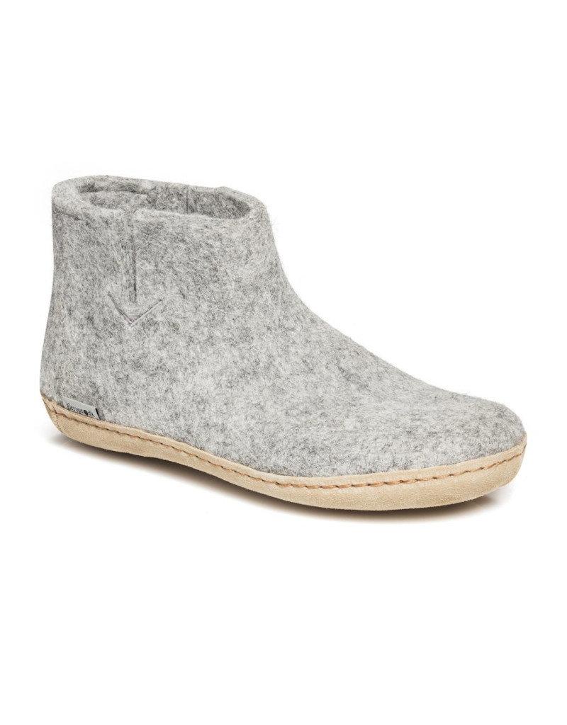 Glerups Glerups Low Boot Leather Sole | Grey