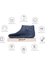 Glerups Glerups Low Boot Leather Sole | Charcoal