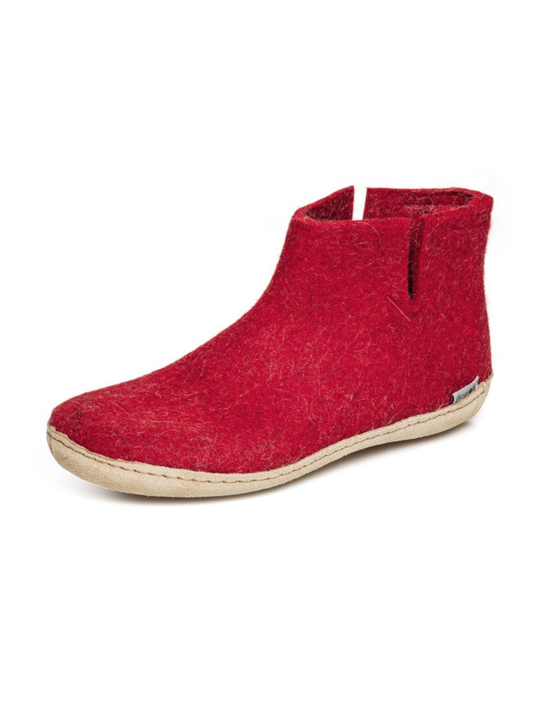 Glerups Glerups Low Boot Leather Sole | Red
