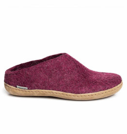 Glerups Glerups Open Heel Leather Sole | Cranberry