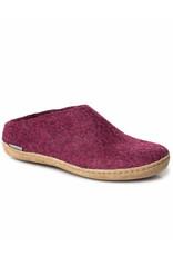 Glerups Glerups Open Heel Leather Sole | Cranberry