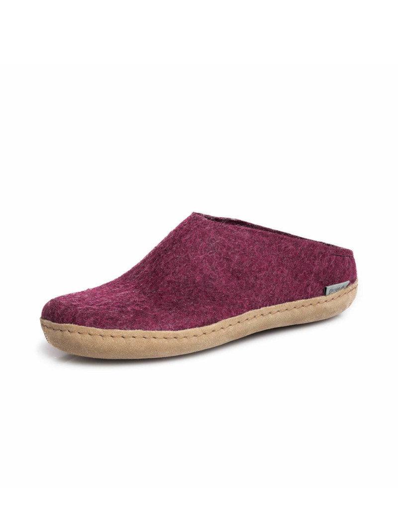 Glerups Copy of Glerups Open Heel | Leather Denim