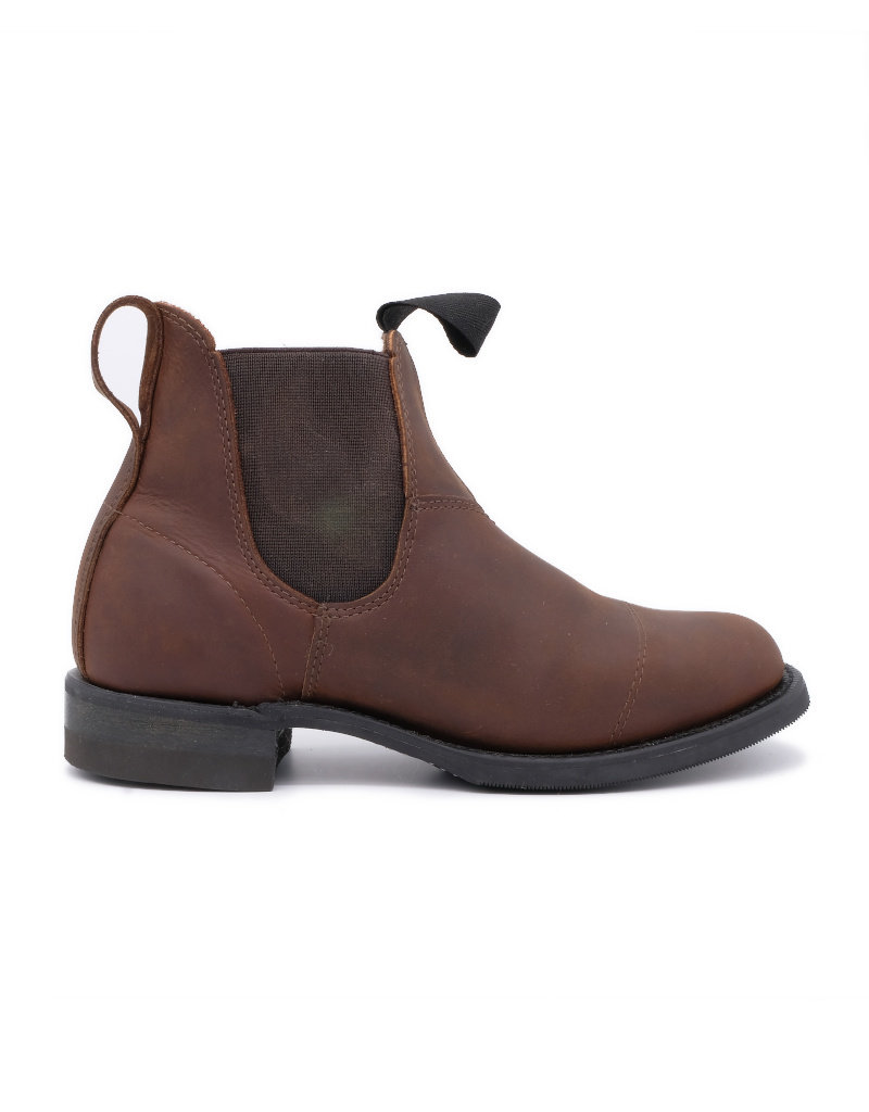 Canada West Canada West - Romeo Leather Chelsea Boots  Round Toe -- 6775   Crazy Horse