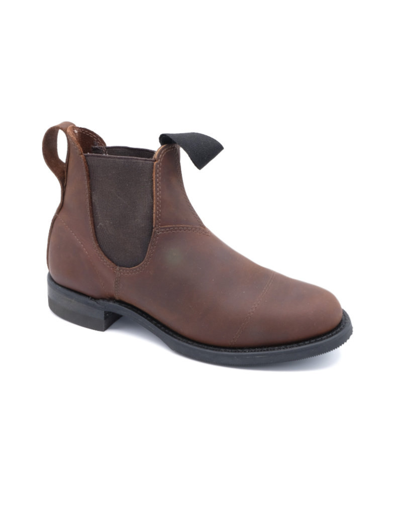 Canada West Canada West - Romeo Leather Chelsea Boots  Round Toe -- 6775 | Crazy Horse