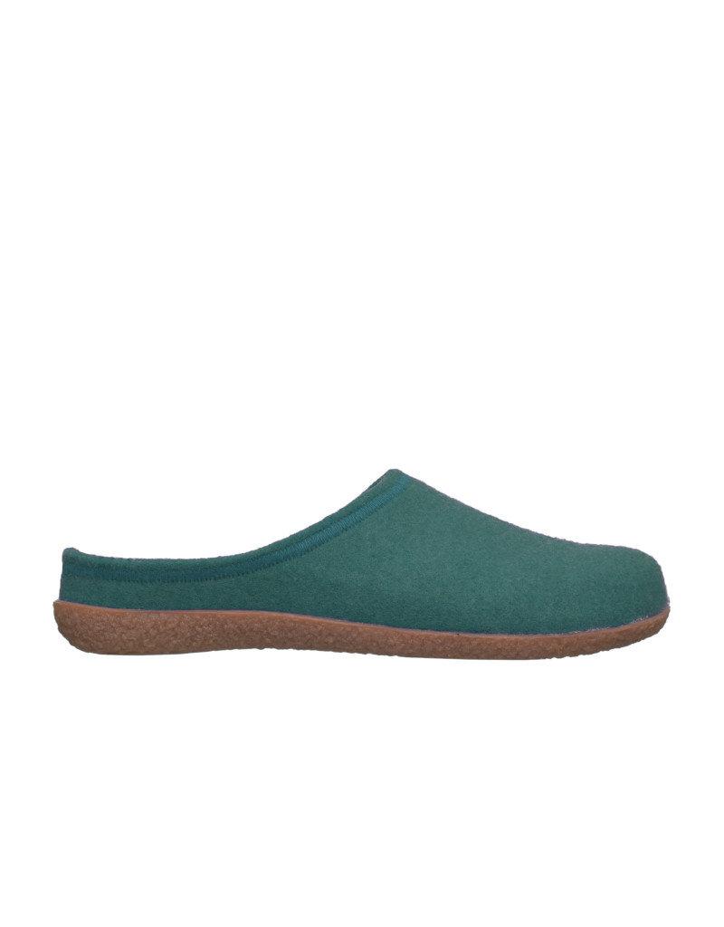 DR.FEET Dr. Feet Women Rubber Sole natural wool Slippers Deep Teal