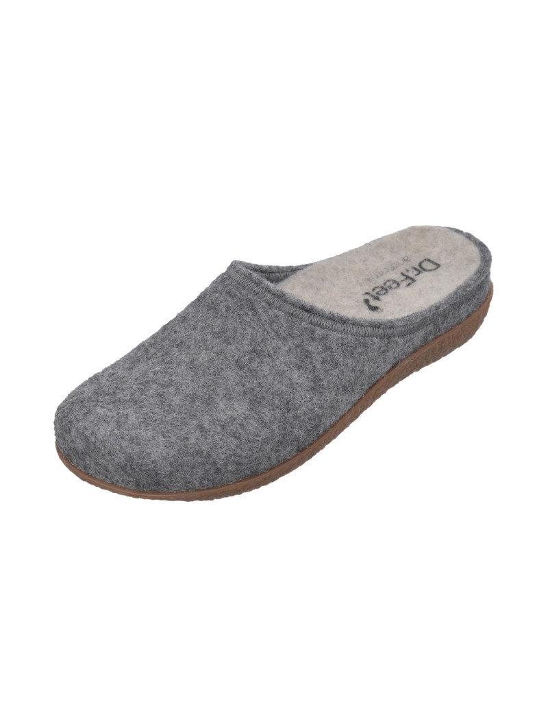 DR.FEET Dr. Feet Women Rubber Sole natural wool Slippers Grey