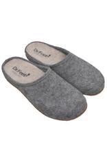 DR.FEET Dr. Feet  Pantoufle femme en laine naturelle semelle caoutchouc Gris