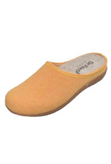 DR.FEET Dr. Feet  Pantoufle femme en laine naturelle semelle caoutchouc Jaune