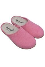 DR.FEET Dr. Feet  Pantoufle femme en laine naturelle semelle caoutchouc Rose
