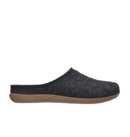 DR.FEET Dr. Feet Women Rubber Sole natural wool Slippers Black