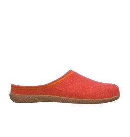 DR.FEET Dr. Feet  Pantoufle femme en laine naturelle semelle caoutchouc Orange