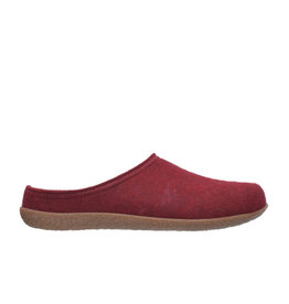 DR.FEET Dr. Feet Women Rubber Sole natural wool Slippers Burgundy