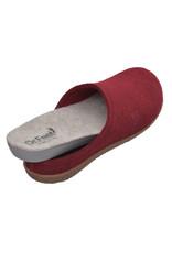 DR.FEET Dr. Feet  Pantoufle femme en laine naturelle semelle caoutchouc Burgundy