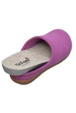 DR.FEET Dr. Feet Women Rubber Sole natural wool Slippers Purple