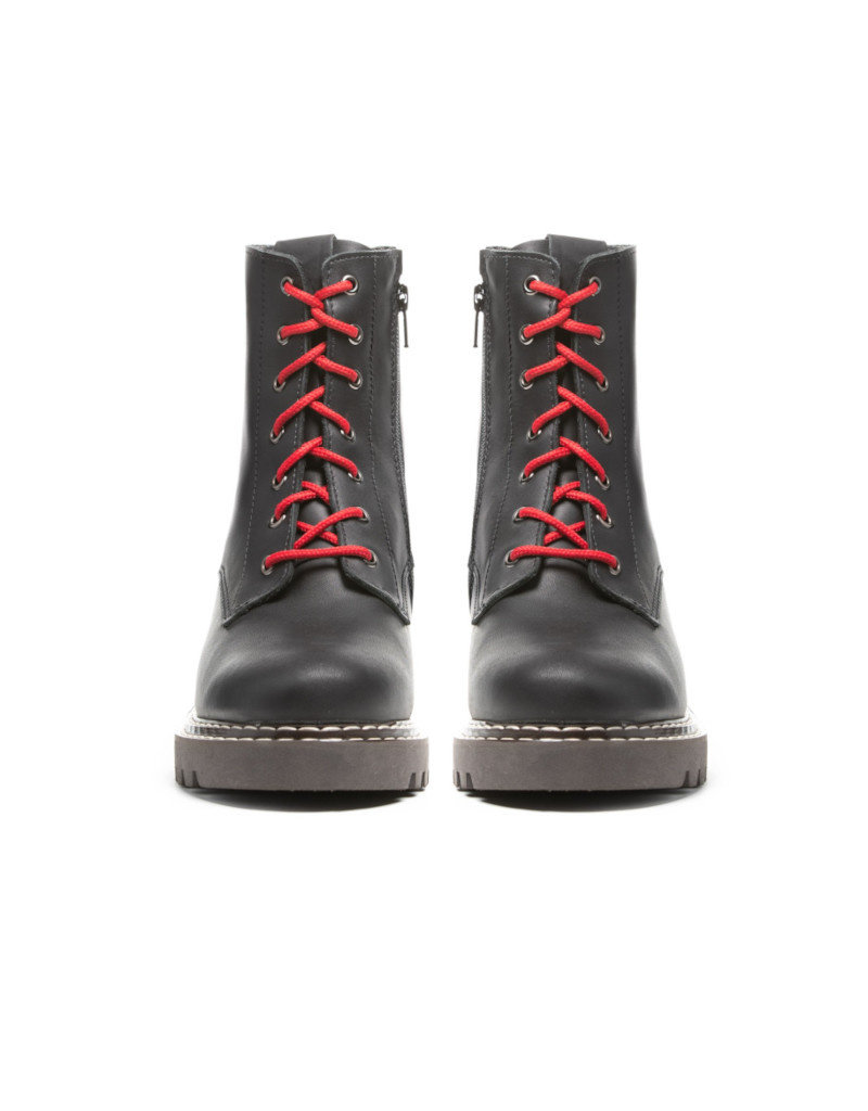 Anfibio Women Winter Boots Anfibio Genia leather black and wool linning