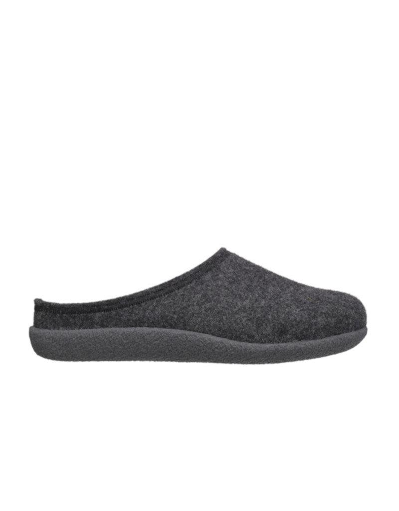 DR.FEET Dr. Feet  Pantoufle homme en laine naturelle semelle caoutchouc gris