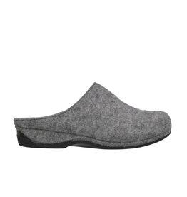 DR.FEET Dr. Feet Pantoufle sabot femme en laine naturelle semelle caoutchouc gris
