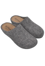 DR.FEET Dr. Feet Women Rubber Sole natural wool clog Slippers Grey