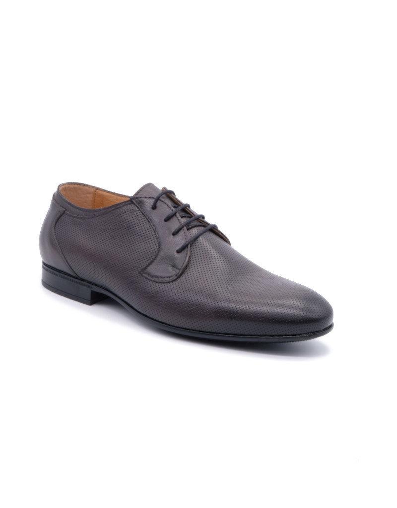 Coxx Borba Chaussures de villes en cuir pour homme Coxx Borba Fany Gris foncé