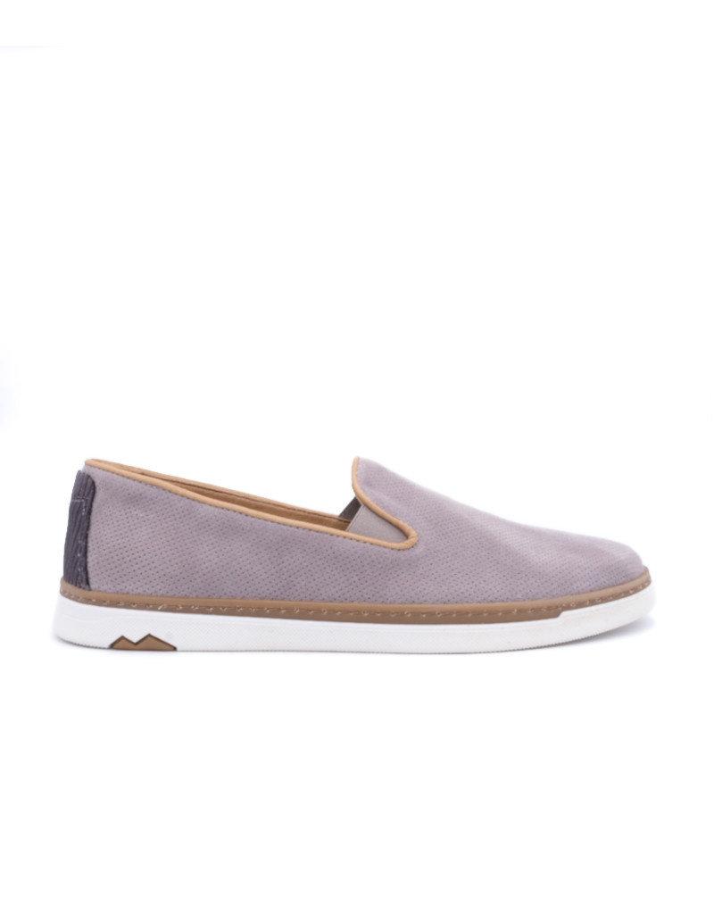 Coxx Borba Suede dress shoes slip on for men Coxx Borba  Alonso Grey