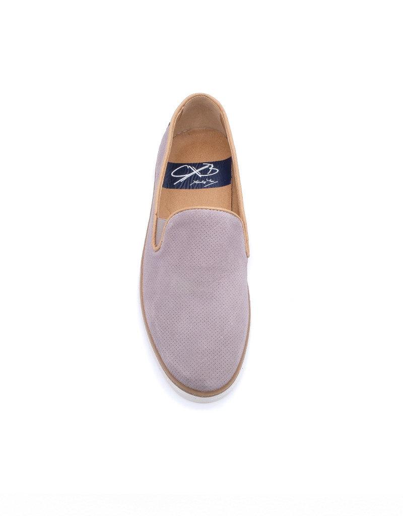 Coxx Borba Chaussures de ville slip on en suede pour homme Coxx Borba Alonso gris