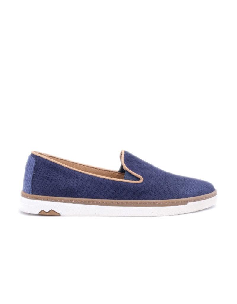 Coxx Borba Suede dress shoes slip on for men Coxx Borba Alonso Blue