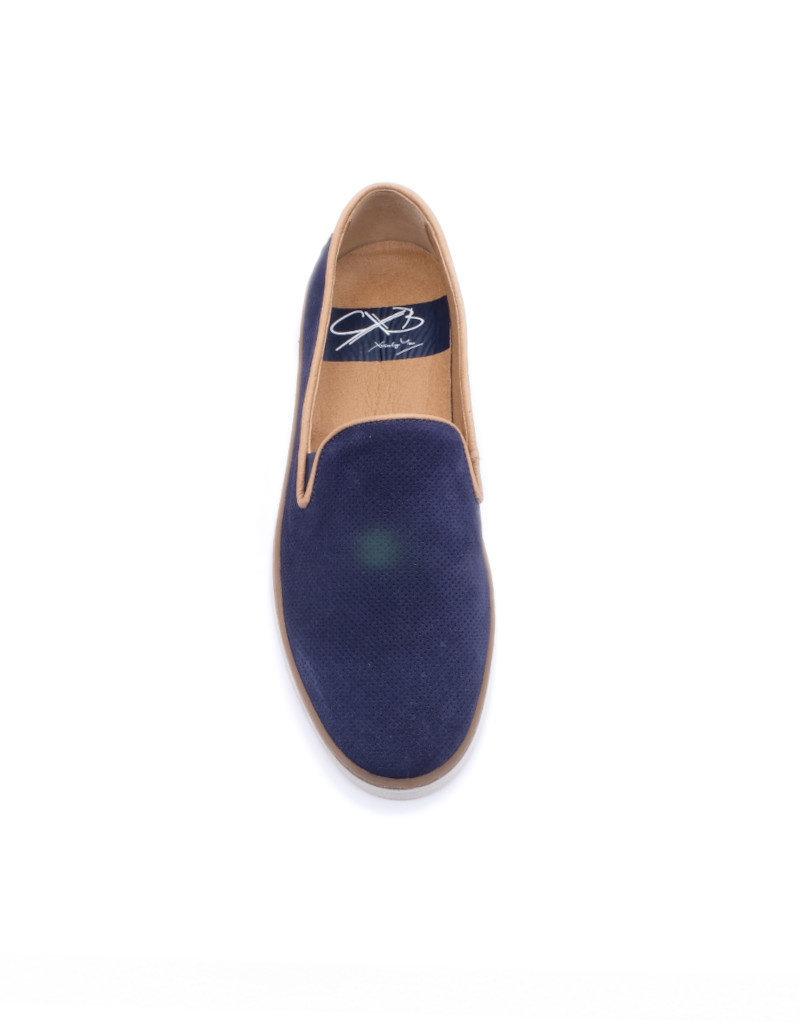 Coxx Borba Chaussures de ville slip on en suede pour homme Coxx Borba bleu