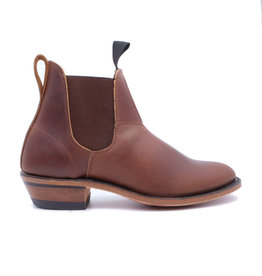 Canada West Botte en cuir femme chelsea Canada West Romeo 6784 Marron