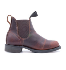 Canada West Canada West - Leather Chelsea Boots Round Toe -- 6775-1 | Pecan