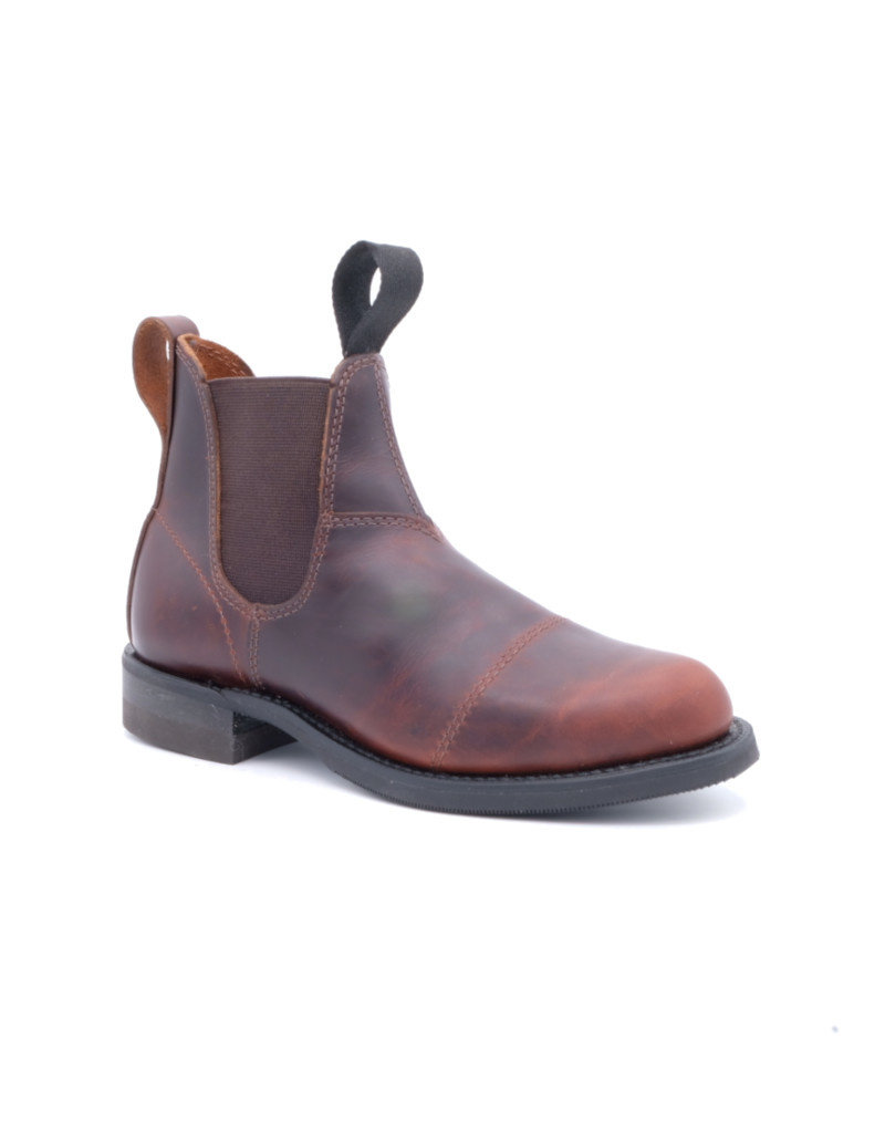Canada West Canada West - Leather Chelsea Boots Round Toe -- 6775-1   Pecan