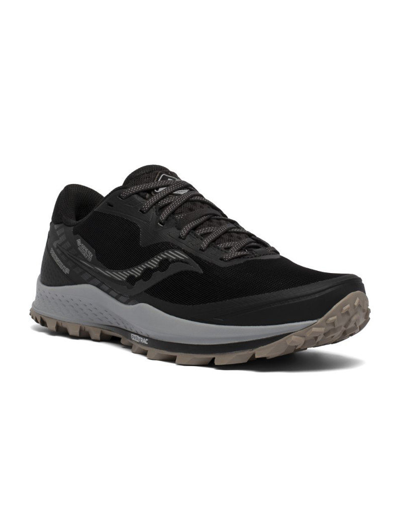 Saucony Trail men shoes Saucony Peregrine 11 GTX Black/Gravel