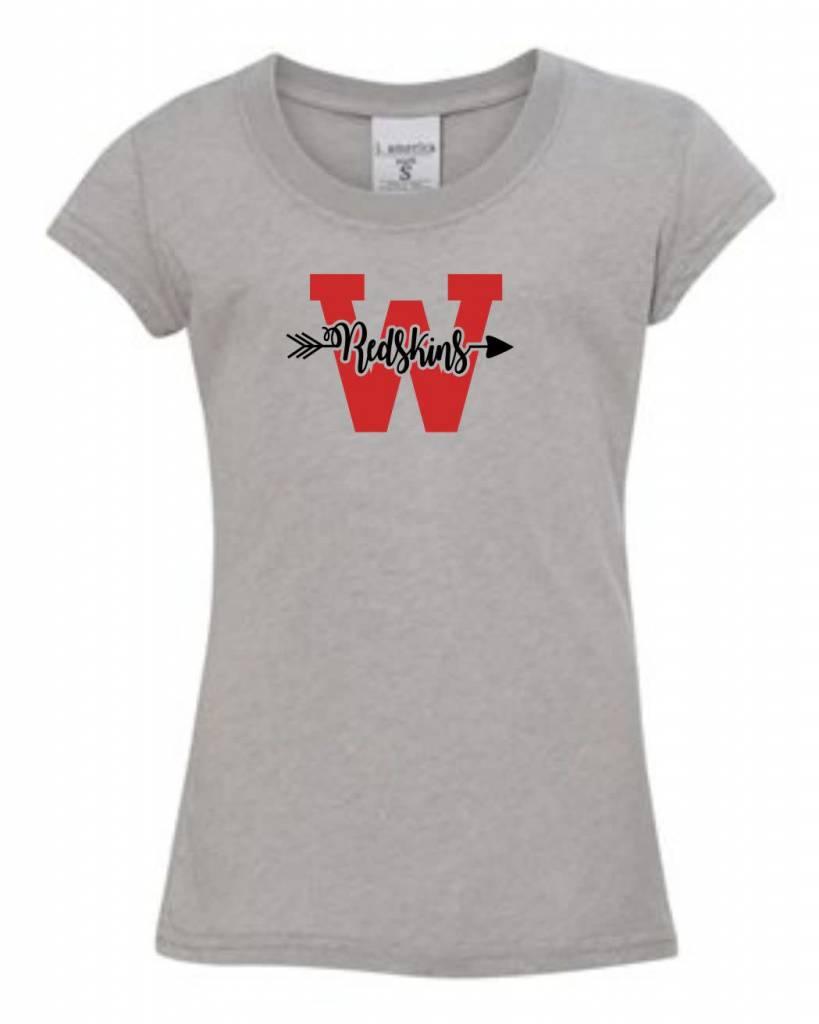 J. America W304 - 8129 Girls J America Glitter T-Shirt -