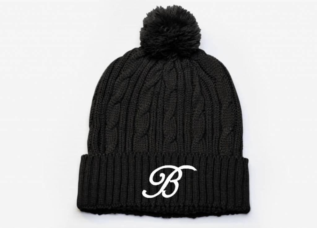 Pacific Headwear B200 - 643K Cable Knit Pom-Pom Beanie  -
